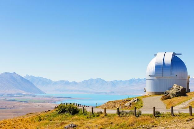 View from mt john observatory, lake tekapo, new zealand
