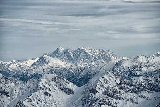 View from the nebelhorn mountain, bavarian alps, oberstdorf, germany