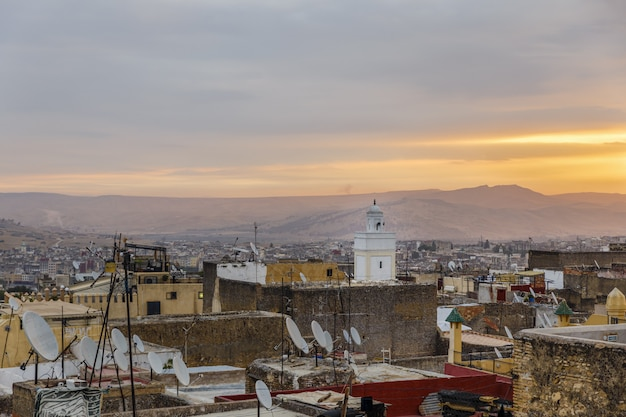 View from a roof in the medina of fez.
