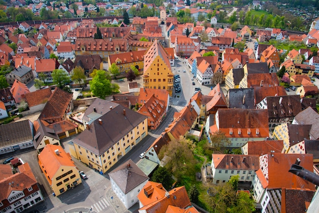 View from st. georgs church - nordlingen, germany