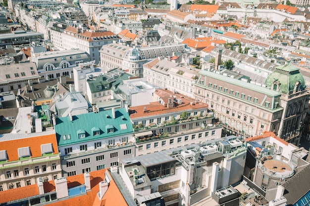 View from st. stephen's cathedral over stephansplatz square in vienna