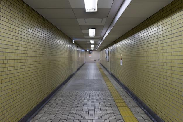 View from subway under ground stairs passage way