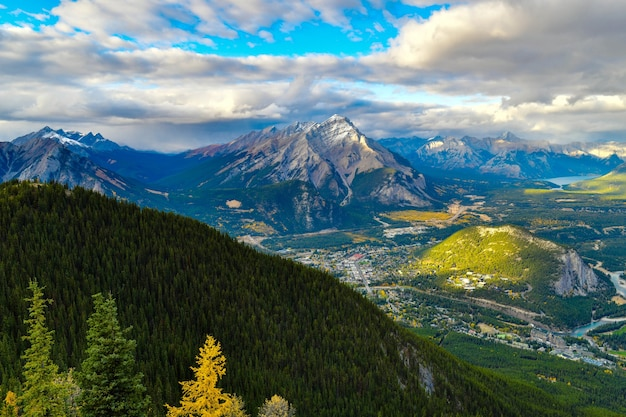 View from sulphur mountain in banffcanada