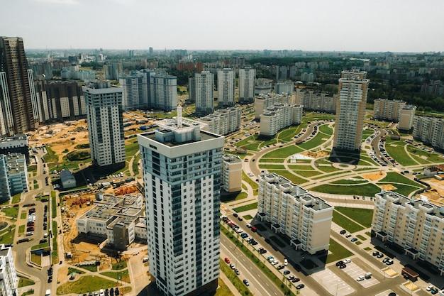 민스크의 pobediteley avenue 높이에서 볼 수 있습니다.