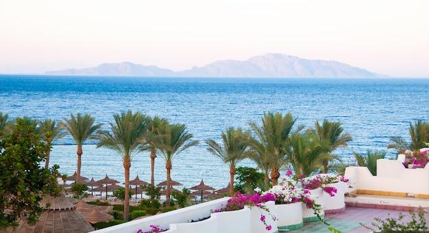 바다와 티란 섬의 시나이 반도에 있는 hotel royal grand sharm에서 본 전망