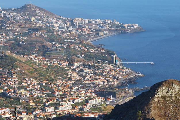 View of funchal in madeira portugal