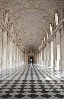 View of galleria di diana in venaria royal palace, close to torino, piemonte region