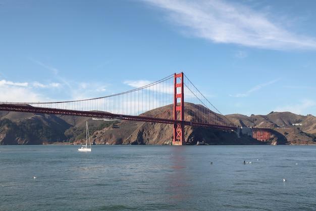 View of the golden gate bridge. san francisco, california, usa.