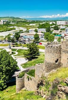 View of gori fortress in the shida kartli region of georgia