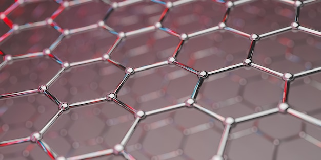 View of a graphene molecular nanotechnology structure