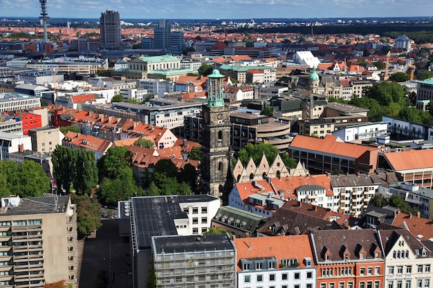 The view on hanover city, germany