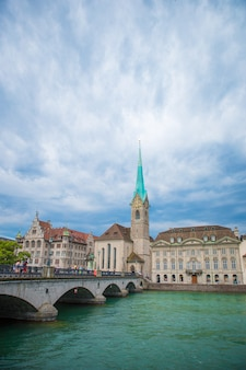 View of the historic city center of zurich