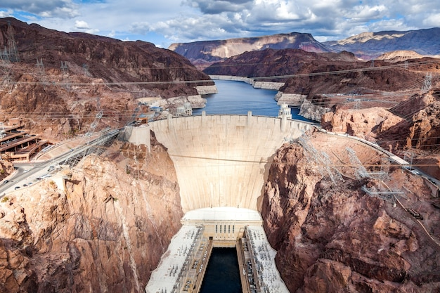 View of the hoover dam in nevada usa