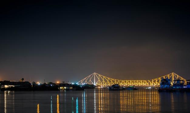 View of howrah bridge from babughat calcutta