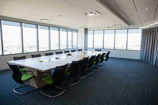 View of interior of conference room