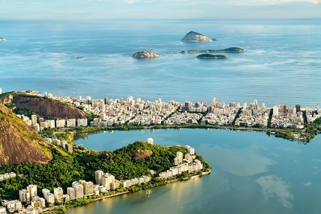 View of ipanema from corcovado in rio de janeiro