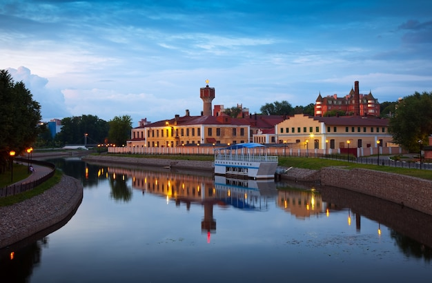 View  of ivanovo in evening. russia