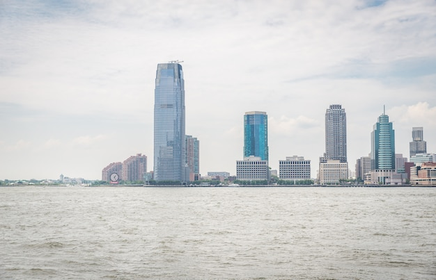 View on jersey city from the sea