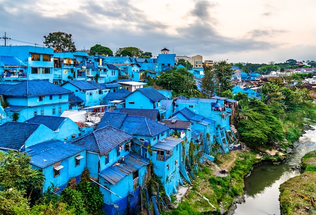 View of kampung warna-warni jodipan, the village of color in malang, indonesia