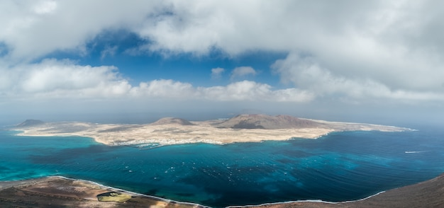 View of the la graciosa in spain