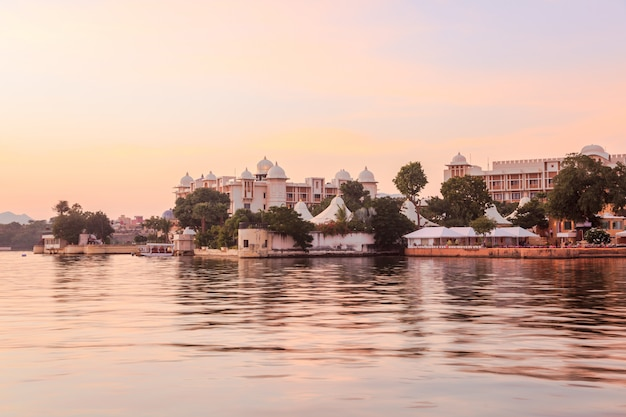View at lake pichola in the evening