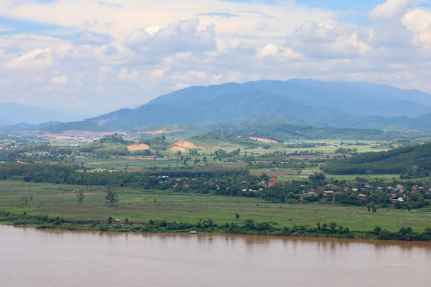 View of landscape mekong river is beautiful nature river at thailand