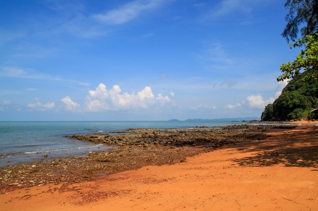 View of landscape rock beach at thailand