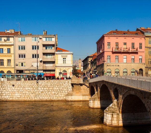 View of the latin bridge, sarajevo