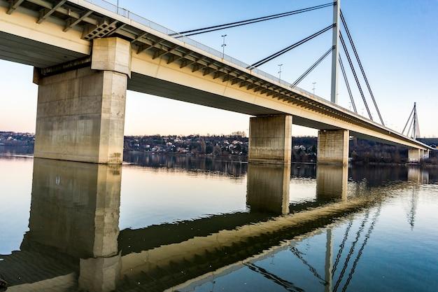 View at liberty bridg in novi sad, serbia