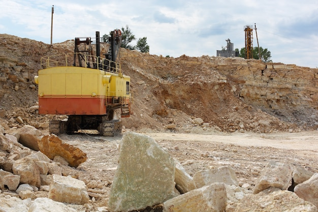 View of the limestone quarry