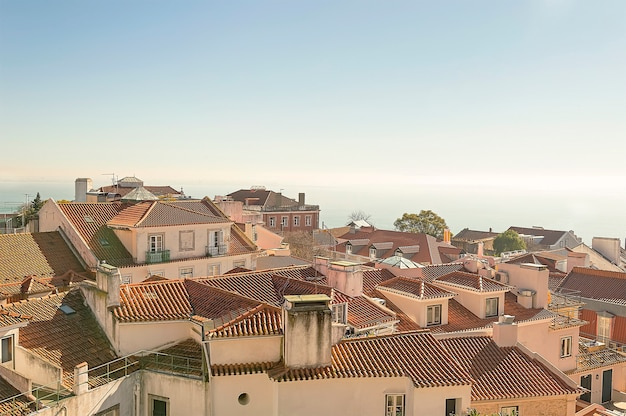View of lisbon from the hill