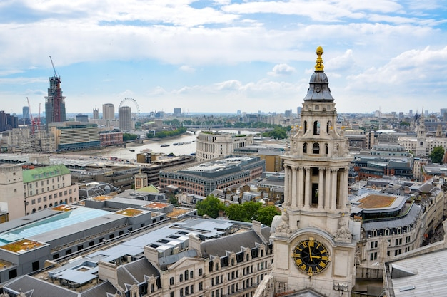 View of london from above. london from st paul's cathedral, uk.