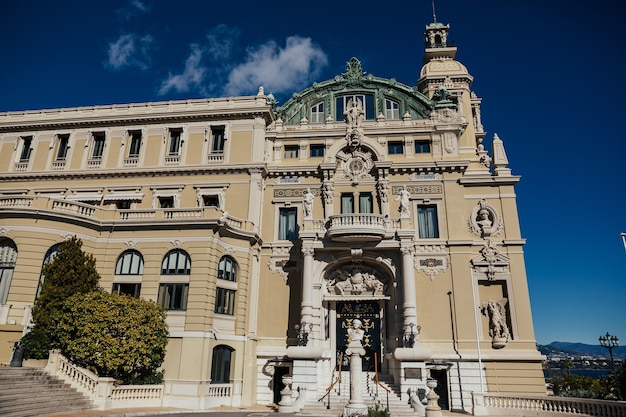 View of luxury palace grand casino in monte carlo, monaco.
