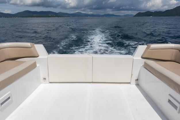 View of luxury yacht cruise at phuket, thailand