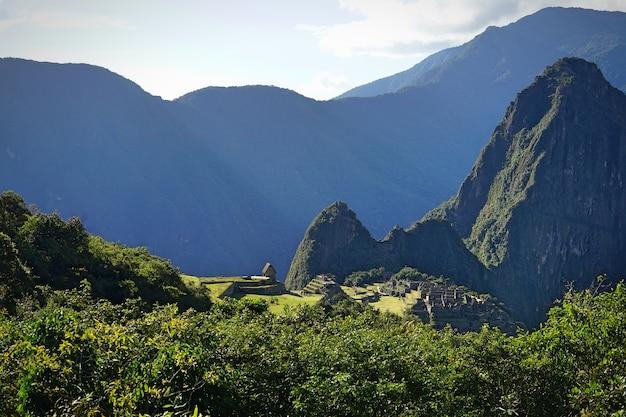 The view of machupicchu.