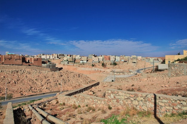The view on the medina of el atteuf city, sahara desert, algeria
