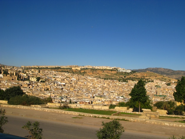 View on the medina of fez, morocco
