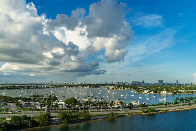 View of the miami from a cruise liner.