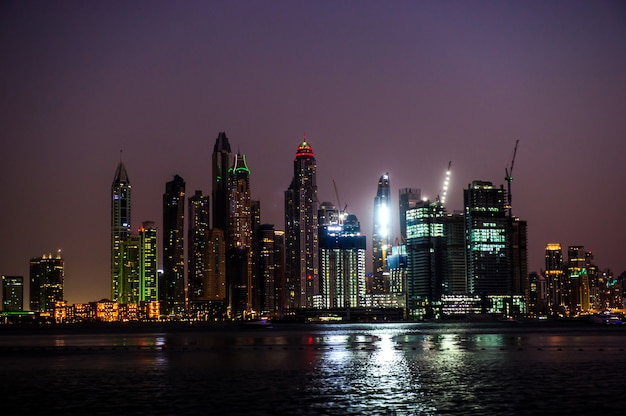 View of modern skyscrapers in jumeirah beach residence