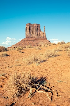 View of monument valley with special photographic processing