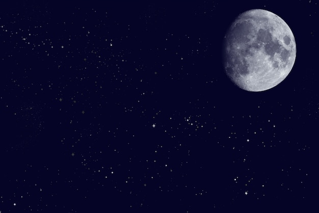 View of the moon on the night sky