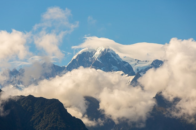 View of mount cook on the south island of new zealand