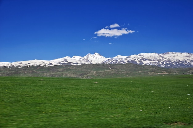 The view on mountains of the caucasus, armenia