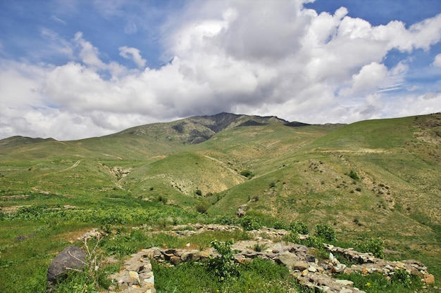 The view on the mountains of the caucasus, armenia