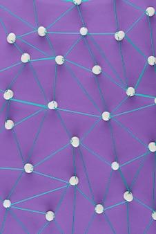 Vista sopra il concetto di rete con thread