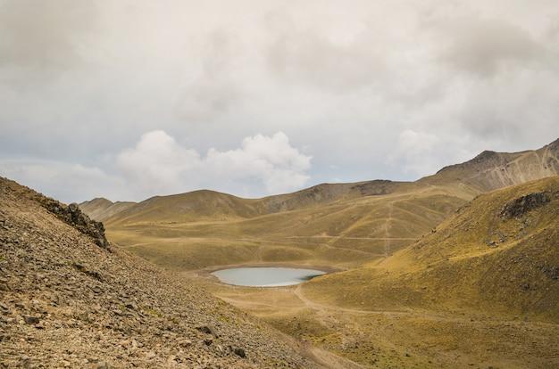 View of the nevado de toluca, inactive volcano of mexico.