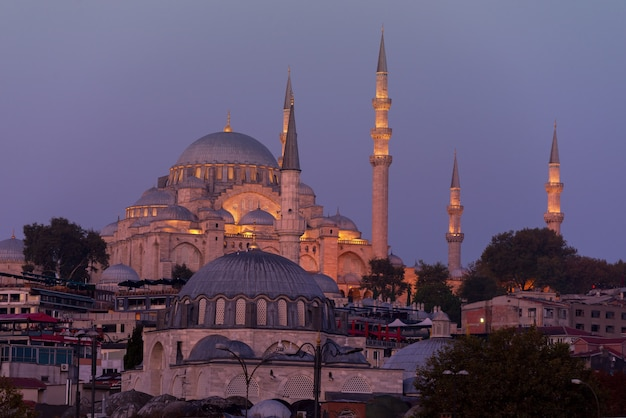 View to new mosque yeni cami in istanbul turkey