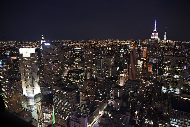 The view on new york at night, united states