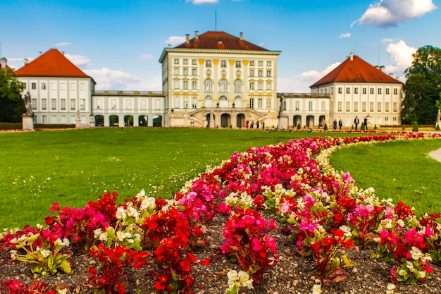 View at nymphenburg palace in munich, germany