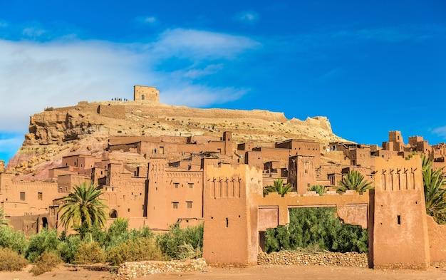 Вид на айт-бен-хадду, объект всемирного наследия в марокко